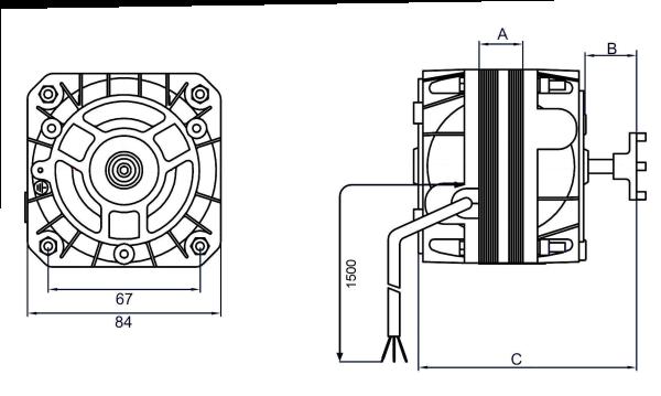 shaded pole motors - 84 range  grid models at